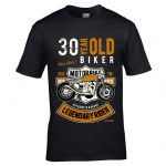 Premium 30 Year Old Biker Legendary Rider Cafe Racer Style Motif For 30th Birthday gift T-shirt Top
